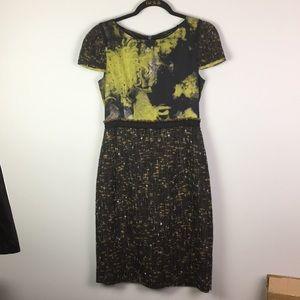 Elie Tahari modern pencil dress abstract print
